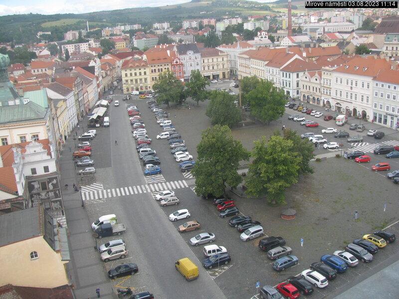 Aktuální pohled na náměstí